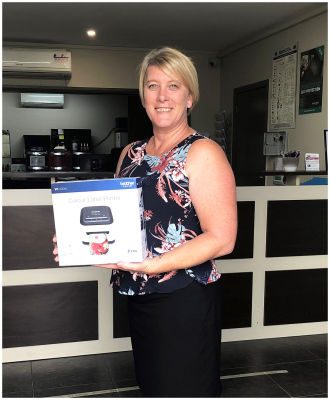 Meet Jodie from Rutherford in NSW, Our Brother Colour Printer Giveaway Winner!