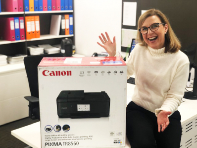 Meet Karen from Gladesville in NSW, our latest Canon Printer Giveaway Winner!