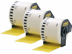 Brother DK-44605 62mm x 30.48m Yellow Roll 3 Pack Generic