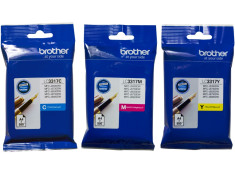 Brother Genuine LC-3317 CMY 3 Pack Colour Combo