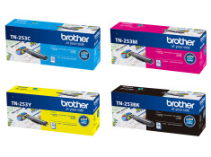Brother TN-253 Series 4 Pk Black & Colour Toner Essentials Combo Genuine