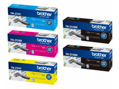 Brother TN-253 Series 2 x Black & 3 x Colour Toner Deluxe Combo Genuine