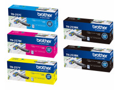 Brother TN-253/TN-257 Series 2 x Black & 3 x Colour Toner Deluxe Combo Genuine