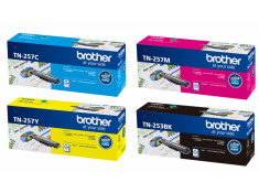 Brother TN-253/TN-257 Series 4 Pk Black & Colour Toner Essentials Combo Genuine