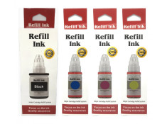 Canon GI690 Essentials Black & Colour Ink Bottle Refill 4 Pack Combo Generic