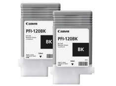 Canon PFI-120 Black Ink Cartridges Twin Pack Genuine