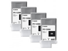Canon PFI-120BK Black Ink Cartridges 4 Pack Genuine