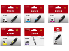 Canon PGI-680 and CLI-681 Ink Cartridge 6 Pack Deluxe Combo Genuine