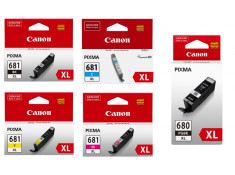Canon PGI-680XLBK and CLI-681XL High-Yield Ink Cartridge 5 Pack Essentials Combo Genuine