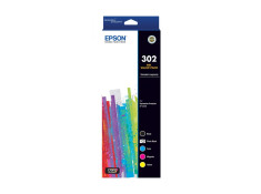 Epson 302 Ink Cartridge Value 5 Pack Combo Genuine