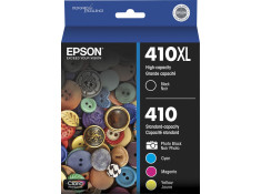 Epson 410XL Black and 410 Colour Ink Cartridge 5 Pack Value Combo (genuine)