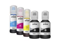 Epson T502 Essentials Plus 5 Black & Colour 2 + 3 Ink Bottle Refill Generic