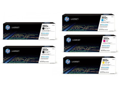 HP 202A Series 2 x Black and 3 x Colour Toner Cartridge 5 Pack Combo (Genuine)