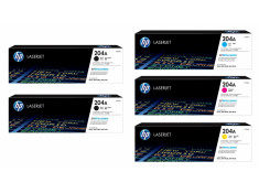 HP 204A Series 2 x Black and 3 x Colour Toner Cartridge 5 Pack Combo Genuine