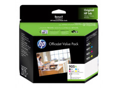 HP 905XL Black & Colour High Yield Ink Cartridge 4 Pack Essentials Combo Genuine