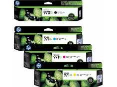 HP 970XL & 971XL Essentials Black and Colour High Yield Ink Cartridge 4 Pack Genuine