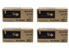 Kyocera TK-5284 Black High Yield Toner Cartridges 4 Pack Genuine