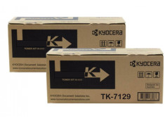 Kyocera TK-7129 Black Toner Cartridge Twin Pack Carton Genuine