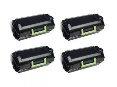 Lexmark 52D3H00 Black High Yield Toner Cartridges 4 Pack Genuine