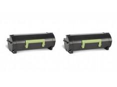 Lexmark 60F3H00 Black High Yield Toner Cartridge Twin Pack Genuine