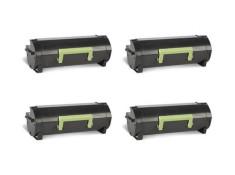 Lexmark 60F3H00 Black High Yield Toner Cartridges 4Pack Genuine