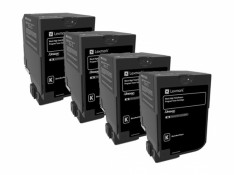 Lexmark C236 Black High Yield Toner Cartridges 4 Pack Genuine