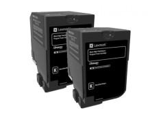 Lexmark C236 Black High Yield Toner Cartridges Twin Pack Genuine
