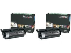 Lexmark T650H11P Black High Yield Toner Cartridge Twin Pack Genuine