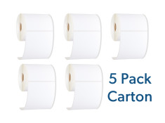 StarTrack Type 102mm x 152mm White Thermal Address Label Roll 5 Pack Carton Bulk Buy - 1750 Labels Generic