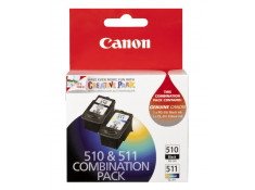 Canon Genuine PG-510 & CL-511 Black & Colour Ink Cartridges Twin Pack Combo