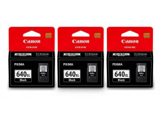 Canon Genuine PG-640XL Black High Yield Ink Cartridge Triple Pack