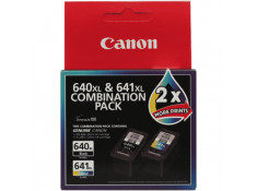 Canon Genuine PG-640XL & CL-641XL Black & Colour High Yield Ink Cartridges Twin Pack Combo