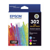 Epson 302 Triple Colour 3 Pack Ink Cartridge Combo Value Pack Genuine