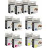 Canon PGI-5 & CLI-8 Double Deluxe Black, PBlack & Colour 4 + 8 Ink Cartridge Combo Pack Generic