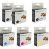 Canon PGI-5 & CLI-8 Deluxe Plus Black, PBlack & Colour 2 + 4 Ink Cartridge Combo Pack Generic