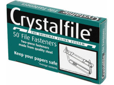Crystalfile Paper Fastener 2 Piece 50 Pack