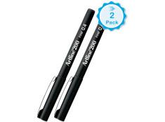 Artline 200 Series 0.4mm Fineliner Black Pens