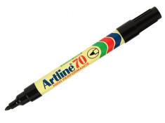 Artline 70 1.5mm Permanent Bullet Nib Black Twin Pack