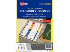 Avery A4 L7411-6 PP Readyindex 1-6