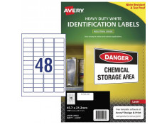 Avery L4778 Heavy Duty 45.7 x 21.2mm 48up 1200 Labels -