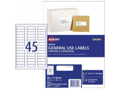 Avery L7156GU 45UP General Use 58 x 17.8mm