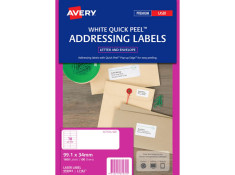 Avery L7162 Laser Labels 99.1 x 34mm 100Pk