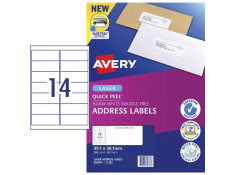 Avery L7163 14UP Quick Peel 99.1 x 38.1mm Laser