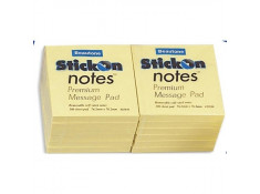 Beautone StickOn 76 x 76mm Yellow Notes