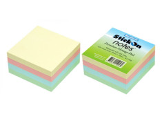 Beautone Stick On Notes Pastel Cube 76mm x 76mm