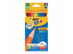 Bic 12 Pack Coloured Kids Evolution