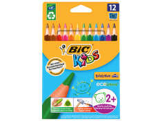 Bic 12 Pack Coloured Kids Evolution Triangle Shape