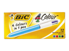 Bic 4 Colour Med Retractable Ballpoint Pens