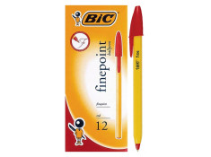 Bic Ballpoint Red Fine Point Pens
