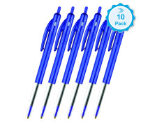 Bic Clic Retractable Ballpoint Pens 10 Pk
